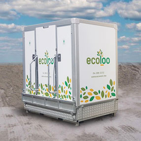 ecobox solar power portable toilet rental
